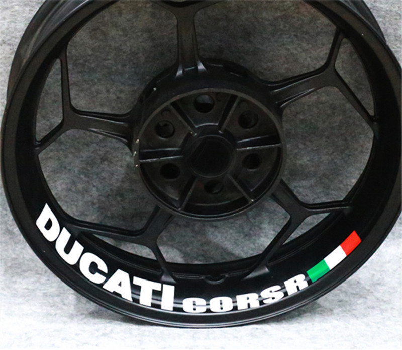 Reflective Red Motorcycle Rim Wheel Decal Accessory Sticker For Ducati 1098