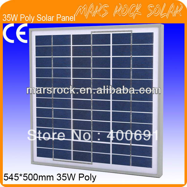 35W 18V Poly Silicon PV Module with Special Technology, Beautiful Appearance, Fend Against Snowstrom&Wind, Waterproof Characters 35w 18v polycrystalline solar panel module with special technology high efficiency long lifecycle fend against snowstorm