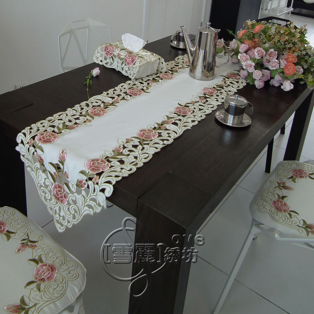 beautiful rustic fabric embroidery fashion dining. Black Bedroom Furniture Sets. Home Design Ideas