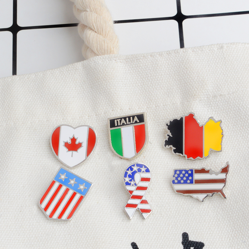 Home & Garden Australia France Friendship Flag Label Pin Metal Badge Badges Icon Bag Decoration Buttons Brooch For Clothes 1pc To Have A Long Historical Standing