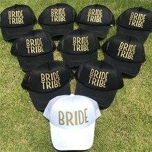 Equipo novia tribu mujer Snapback Caps Hip Hop marca sombreros de béisbol  malla boda hombre oro 57bf441ed27