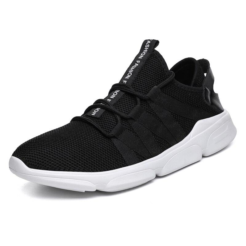 Männer Turnschuhe Männer Komfortable casual schuhe weichen boden Neueste Atmungsaktive Schuhe Lace Up erwachsene Hohe elastizität Männlichen schuhe-in Freizeitschuhe für Herren aus Schuhe bei AliExpress - 11.11_Doppel-11Tag der Singles 1