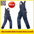 Alta Qualidade de trabalho workwear coverall multi-bolsos funcional global frete grátis