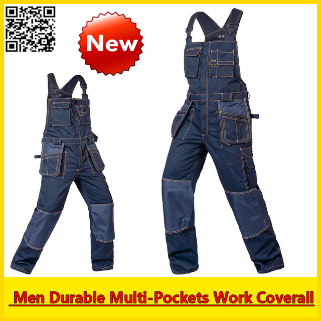 High Quality working coverall  workwear multi-pockets functional overall free shipping