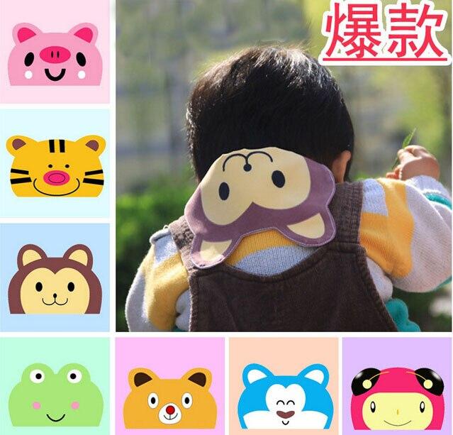 33x22CM 6 Layer Cotton Gauze Baby Sweat Towel Cartoon Children Sweat-Absorbing Towel Infant Back Perspiration Wipe Free Shipping