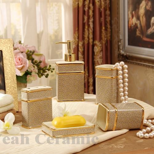 Buy porcelain bathroom sets ivory porcelain mosaic design five piece set - Find porcelain accessory authentic ...
