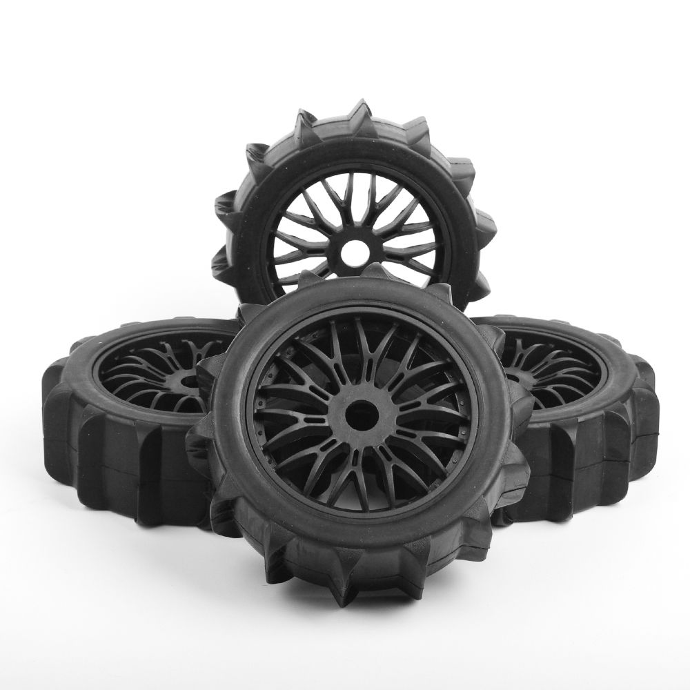 4pcs /set 1/8 Desert Snow Tires Set Tyre Wheel Rim For HPI HSP Traxxas 1:8 RC Car Buggy Model Car Truck Accessories 2pcs traxxas original 1 5 x maxx tires wheels tire tyre for 1 5 traxxas x maxx rc monster truck model 7772