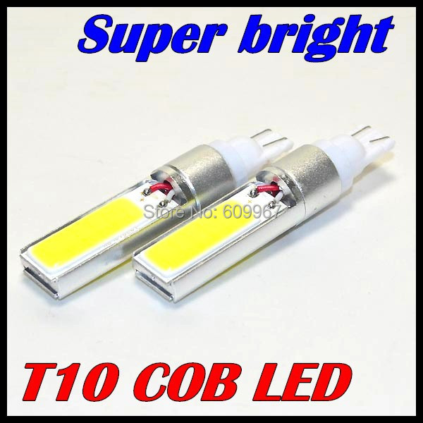 Free shipping 2pcs Super White t10 w5w  COB LED light T10 194 168 W5W 2X5W SMD CAR LED lights auto led clearance lights
