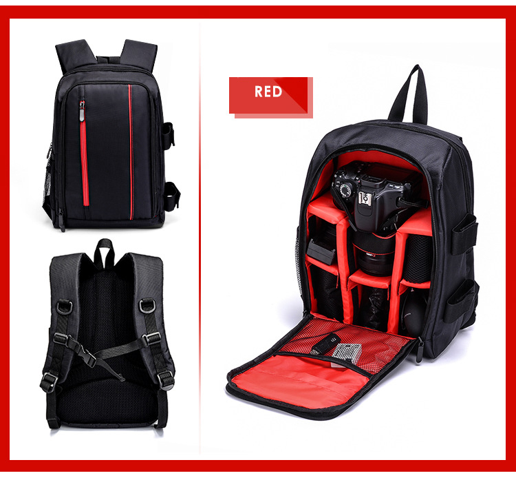 Waterproof DSLR Backpack Camera Bag Laptop Photography Travel Bag