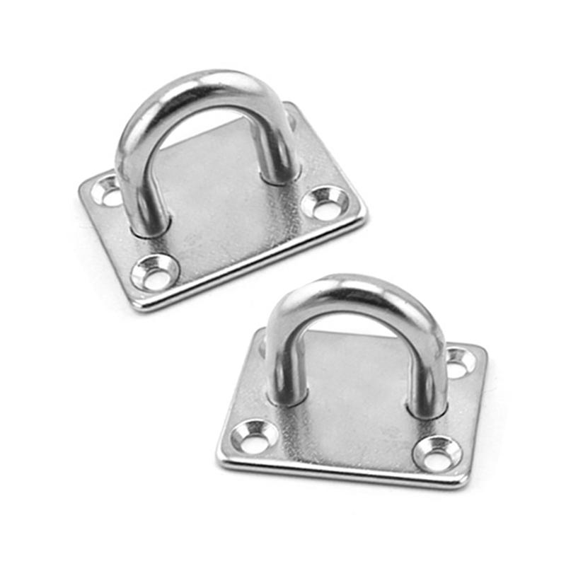 4pcs Small S 35mm Square Stainless Steel Hook U Shaped