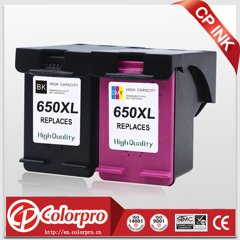CP Wholesale 650 2PK Cartucho de tinta de alta calidad para 650XL para HP Deskjet Ink Advantage 1015 1515 2515 2545 2645 3515 4645