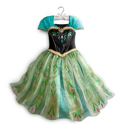 Платье Эльзы для девочек; Новинка; костюмы Снежной Королевы для детей; платья для костюмированной вечеринки; платье принцессы; disfraz carnaval vestido de festa infantil congelados - Цвет: anna dress B