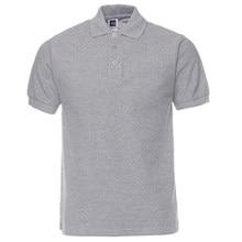 Camisa pólo Homens Roupas de Marca Polos Camisas de Cor Sólida Camisa  Masculina Mens Casual Algodão ee66c8f496e3b