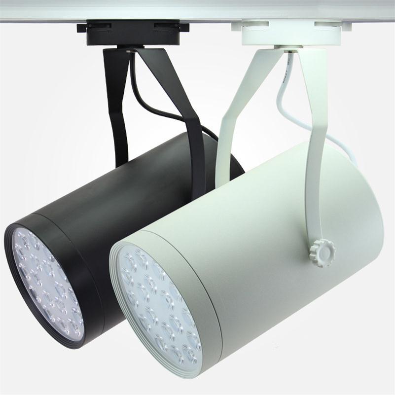 Led Track Lights Indoor Commercial Lighting Rail Lamps Spotlights Clothing Shoe Warm White Black Housing