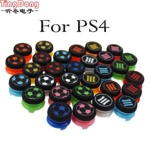 Image 1 - Tingdong Cho Tay Cầm Chơi Game Sony Dualshock 4 DS4 Mềm Analog Cần Điều Khiển Cầm Mũ Lưỡi Trai PS4 Bộ Điều Khiển Ngón Tay Cái Extenders Tăng Đính Đá Nắp
