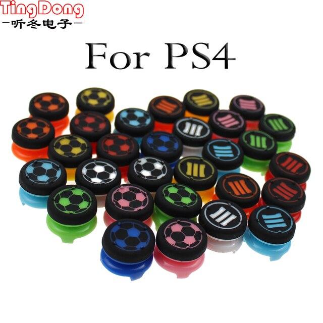 Tingdong Cho Tay Cầm Chơi Game Sony Dualshock 4 DS4 Mềm Analog Cần Điều Khiển Cầm Mũ Lưỡi Trai PS4 Bộ Điều Khiển Ngón Tay Cái Extenders Tăng Đính Đá Nắp