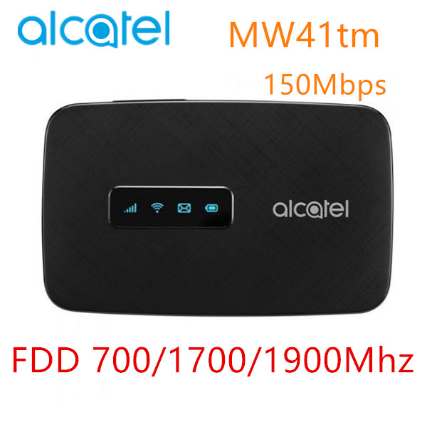 Alcatel MW41 4G LTE cat4 WiFi router FDD LTE B2/4/12 150Mbps MW40tm with SIM car slot 4G mobile hotspotAlcatel MW41 4G LTE cat4 WiFi router FDD LTE B2/4/12 150Mbps MW40tm with SIM car slot 4G mobile hotspot