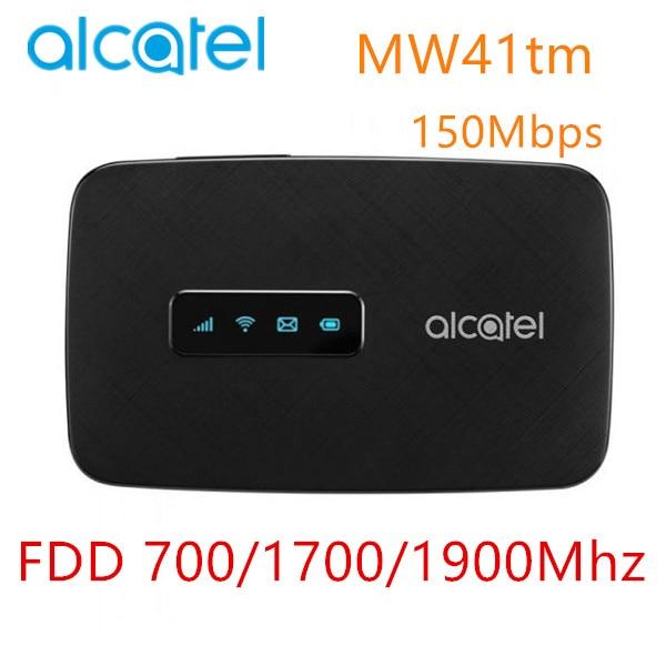 Alcatel MW41 4G LTE Cat4 WiFi Router FDD LTE B2/4/12 150Mbps MW41tm With SIM Car Slot 4G Mobile Hotspot Pocket Wifi 4g