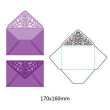 Кружевной конверт металлический трафареты для пресс-формы для бумага для скрапбукинга декоративная открытка Craft тиснение высечки Новый 2019