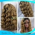 curl Kinky Curly Ombre Blonde Color Wigs Heat Resistant Synthetic Lace Front Wigs Afro Kinky Culry Glueless Wigs For Black Women