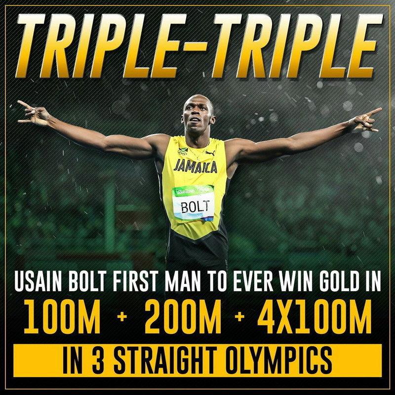 139 Usain Bolt - Jamaican sprinter Fastest Person 14x14 Poster