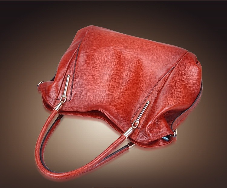 Vintage Women's Handbags Soft Genuine Leather Tote Crossbody Bag High Quality Cow Leather Shoulder Bags Female Brown Hand Bag 4
