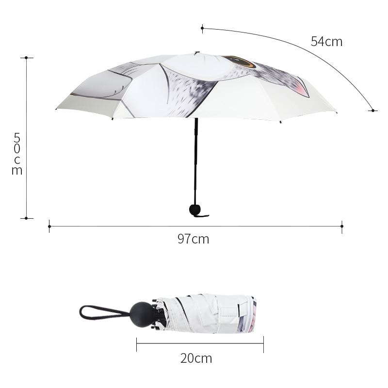 enfants parapluie femelle 5 fois parapluie chinois mignon chat chien - Marchandises pour la maison - Photo 6