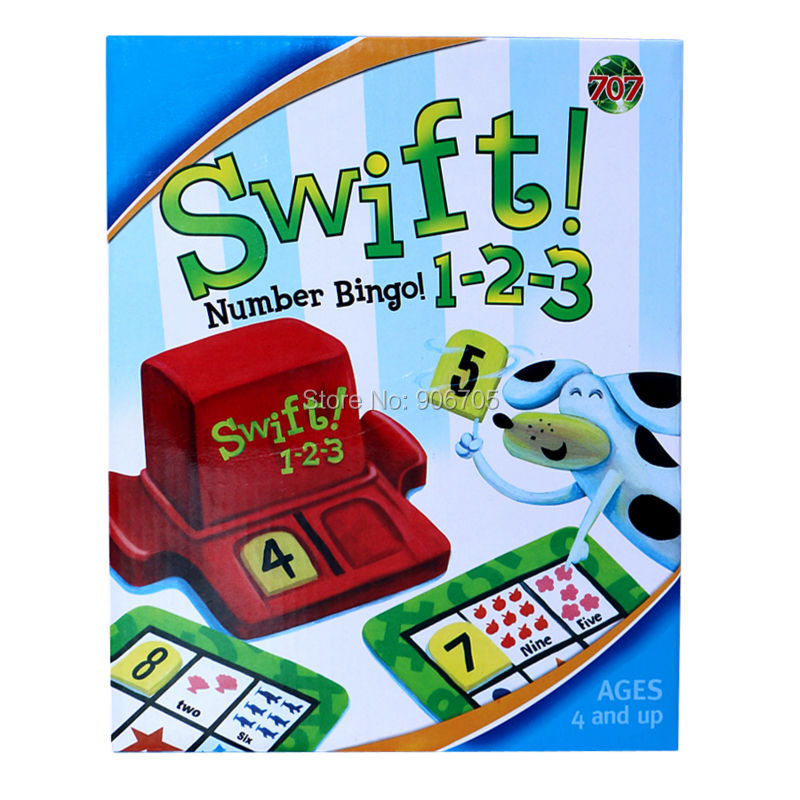 SWIFT 1-2-3 numbers bingo family game children numbers Intellect Game Set educational toys Game,family fun toys for kids funny monkey climbing board game kids falling tumbling family toy safe plastic sharing educational toys for kids