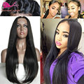 Black Straight Wig Free Part Synthetic Lace Front Wigs With Baby Hair Heat Resistant Synthetic Straight Wigs For Black Women