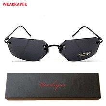 Wearkaper vintage óculos de sol sem rilmless matriz morpheus óculos de sol filme óculos de sol óculos de sol feminino proteção uv