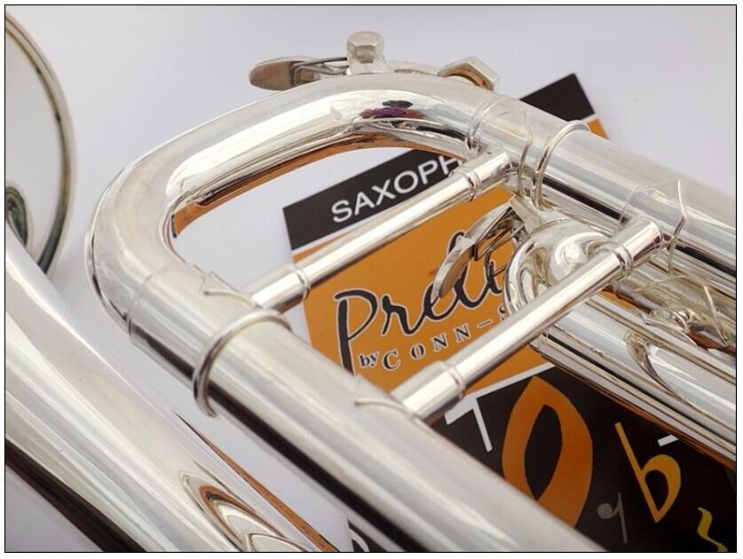 DHL, UPS бесплатно старшего Баха Посеребренная труба Баха LT180S 43 небольшой латунный музыкальный инструмент Trompeta Профессиональный высокого класса. - 5
