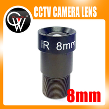 STOCK 8mm CCTV lens 40 Degrees M12 1/3″ and 1/4″ F2.0 Lens For CCTV CCD CMOS Security Camera