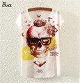 Nueva camiseta fresca de las mujeres Blingbling Cráneo Camisetas verano de las mujeres top tee mujer camisas de las mujeres de la venta Caliente Del Verano