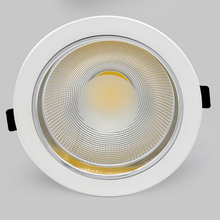 Free Shipping 25w Warm White COB led down light 85-265v spot recessed ceiling lamp Super downlight Led Lamp