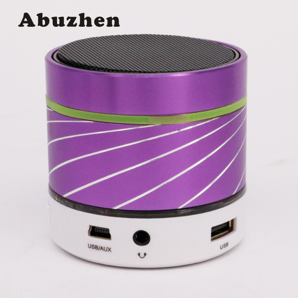 Abuzhen Light Portable Mini Metal Wireless Bluetooth Speaker font b Subwoofer b font Music font b