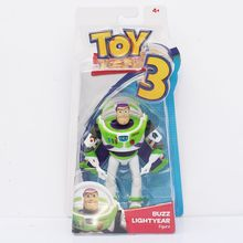 Anime Toy Story Buzz Lightyear Woody 3 PVC Action Figure Collectible Modelo Toy Kids Presentes 14 cm(China)