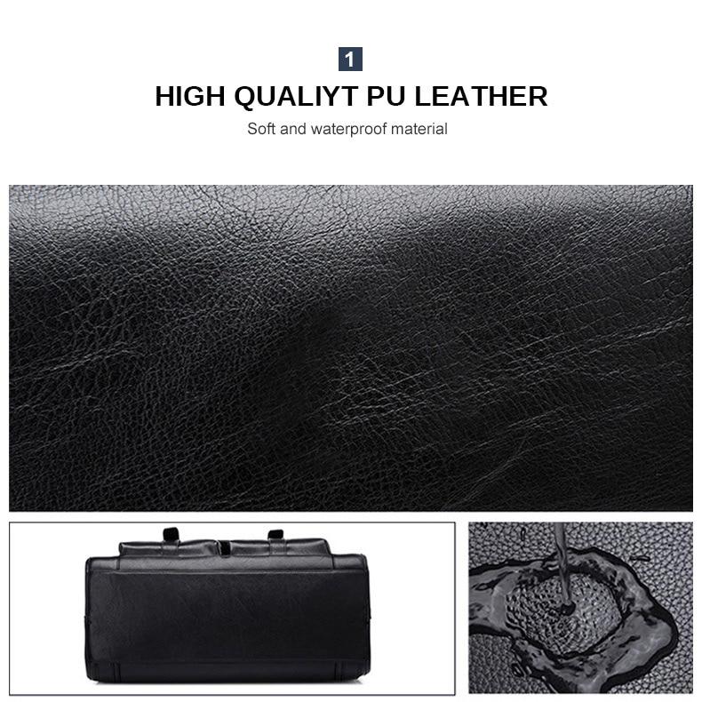HTB124M5KwHqK1RjSZFgq6y7JXXaY Men Leather Black Briefcase Business Handbag Messenger Bags Male Vintage Shoulder Bag Men's Large Laptop Travel Bags Hot XA177ZC