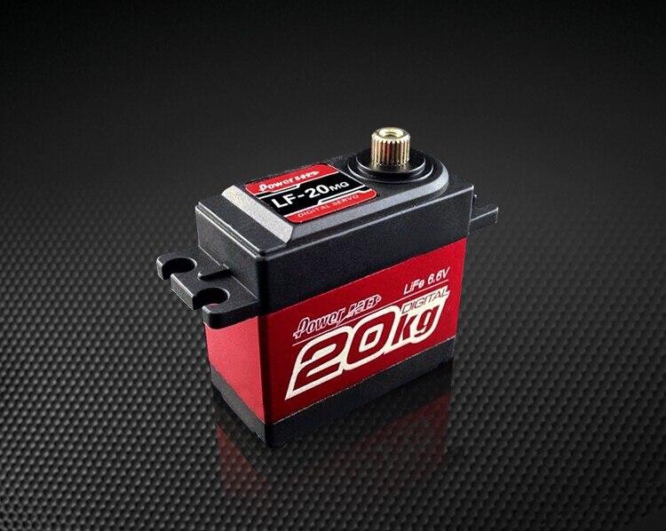 Bán buôn 100% Original Power HD LF-20MG 20 KG Servo Kỹ Thuật Số HM Xe Ô Tô Trên Không Đầu Robot và Futaba RC Helicopter Thuyền xe