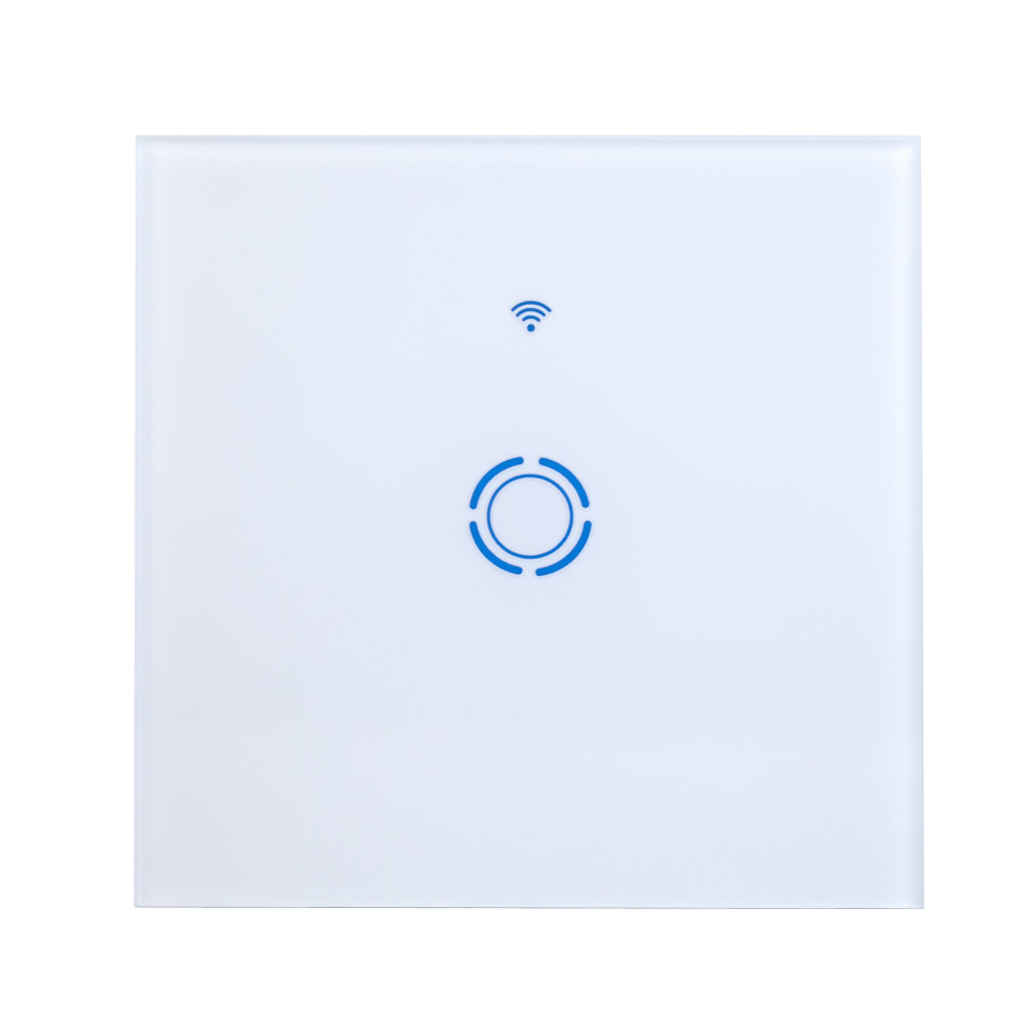 EU Wifi Light Switch Glass Panel Touch LED Light Switch for Smart Home Wireless Remote Switch Ewelink App Work With Alexa in Smart Remote Control from Consumer Electronics