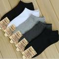 20 шт. = 10 пар = 1 Лот короткие открытия мужские носки чистый цвет вскользь носки для мужчин 5 цвета