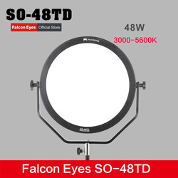 Falcon Eyes SO-48TD 48W Soft LED Video Light Dimmable 3000-5600K Lighting Photo Video Film Continuous Light W/Camera Bracket