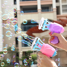 Summer Funny Magic Automation Bubbles Toy Electricity Fan Water Gun Bubble Maker Machine Children Game Gift