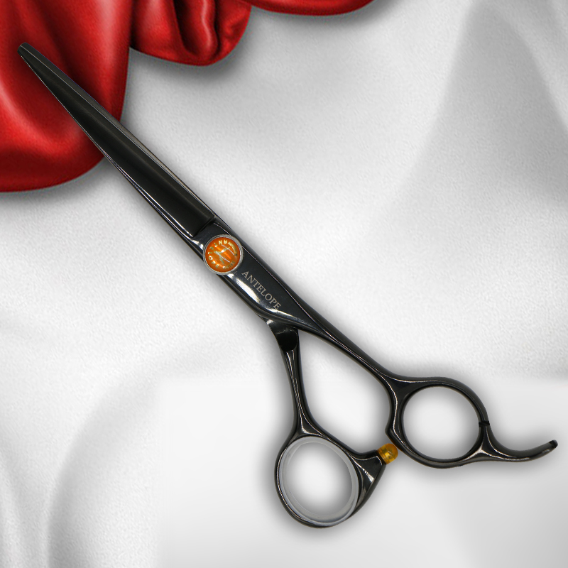 Antelope 6 Inch Cutting And Thinning Scissor Salon Hairdressing Set Stainless Steel Japan 440C Regular V Shape 40 Teeth