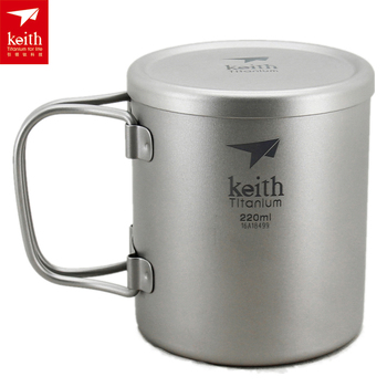 Keith Dubbele Muur 220 Ml 600 Ml Titanium Mok Camping Cup Water Cup