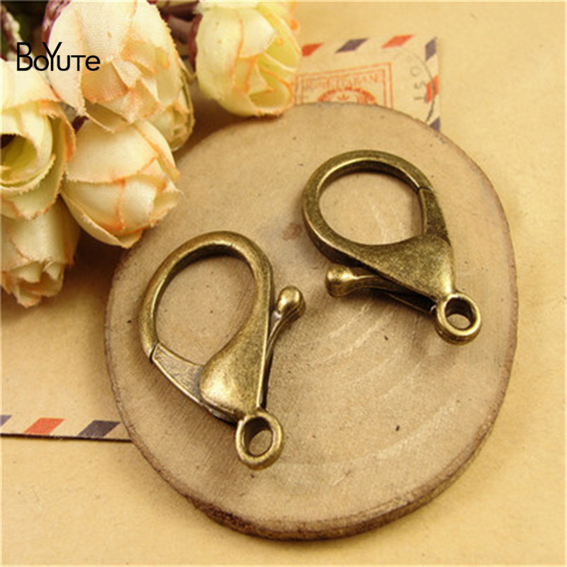 BoYuTe (50 Pieces/Lot) 21*35MM Antique Bronze Plated Alloy Lobster Clasp Jewelry Accessories Diy Jewelry Findings Components