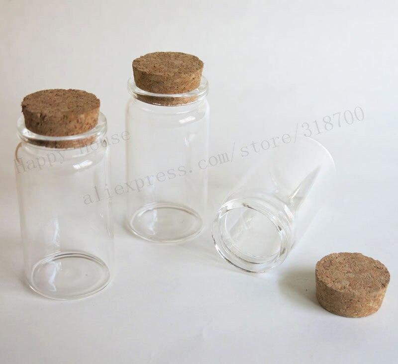 360x50 ml bouteille en verre avec du liège en bois 50cc verre clair  échantillon flacon bouchon de liège bocal en verre 37 70 27mm 4c7b16605dd3