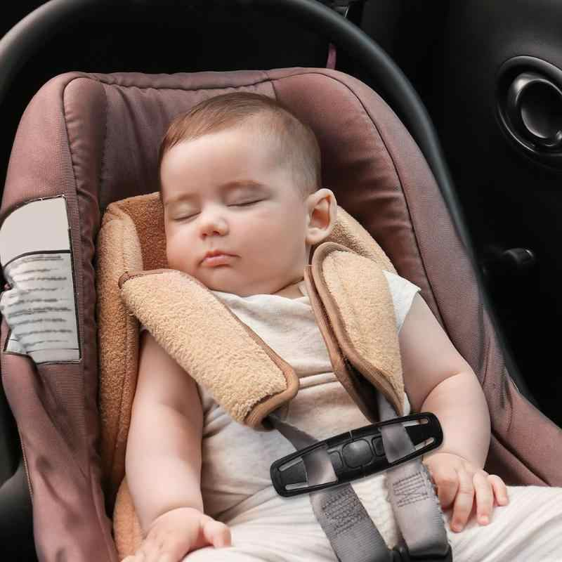 Duurzame Zwarte Baby Veiligheid Seat Riem Riem Harnas Borst Clip Zetel Gesp Kind Clip Klink Bescherming Peuter