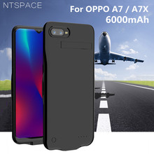 NTSPACE Portable Power Bank Pack Charging Case For OPPO A7 A7X Battery Charger Cases 6000mAh External Powerbank Stand Back Cover