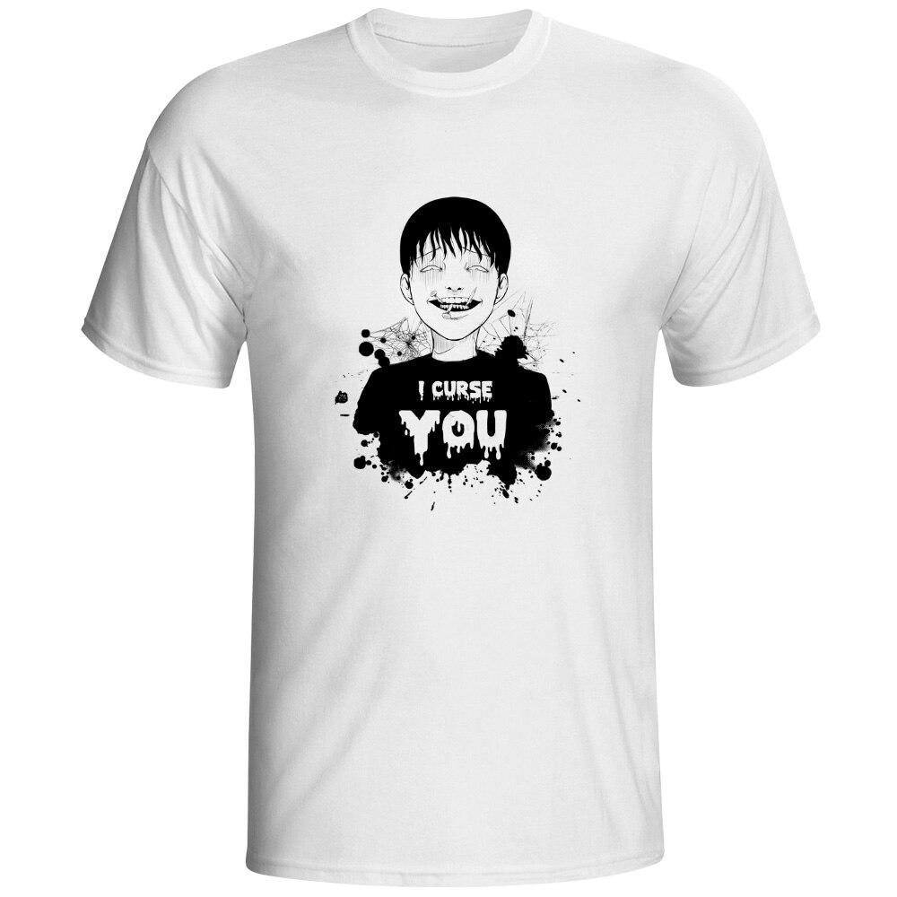 T shirt japanese design - I Curse You T Shirt Horror Movie Japanese Design Print Anime T Shirt Cool Hip