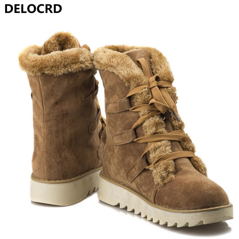 Women's Snow Boots Thick Wool Warm With Cotton Shoes Plus Size Women's Boots Ladies Fashion Casual Shoes winter Casual Sneaker 71